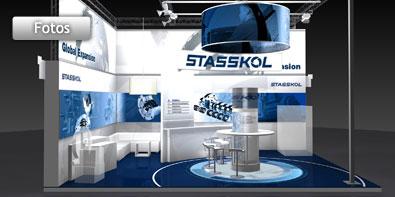 Entwicklung eines individuellen Messestandes für die Stasskol GmbH auf der POWTECH in Nürnberg