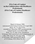 FSA Code of Conduct